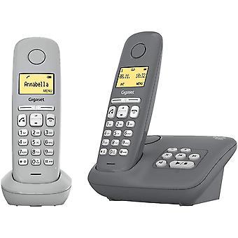 FengChun A280A Duo - 2 Schnurlose Telefone mit Anrufbeantworter - brillante Audioqualität auch beim
