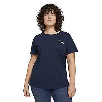 TOM TAILOR MY TRUE ME 1024893 Plussize Basic T-Shirt, 10668-Sky Captain Blue, 54 Donna