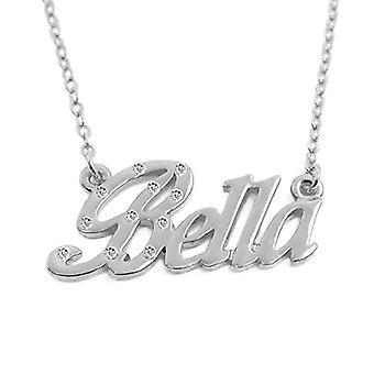 KL اسم جميل مخصص الذهب مطلي قلادة الأبيض 18 قيراط قابل للتعديل سلسلة 16 19 سم مجانا هدية مربع