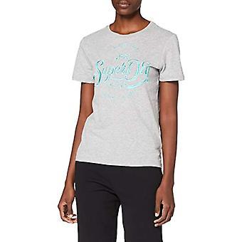 スーパードライプレミアムスクリプトEMBエントリーティーシャツ、グレー(グレーマール07Q)、M(メーカーサイズ:12)女性