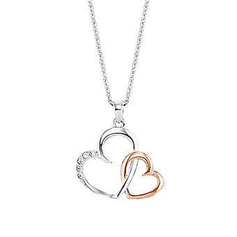 Amor Kaulakoru naisten riipus, hopea 925, 42 cm, sydämen muotoinen, valkoinen ankkuri
