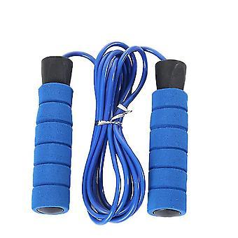 """20 * 2.6 * 3.5 ס""""מ חוט פלדה כחול חבלי קפיצה מתכווננים עם ידיות נגד החלקה x4156"""