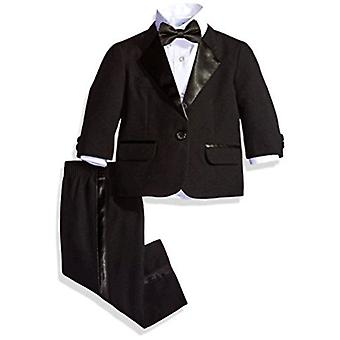 Nautica Baby Boy's Tuxedo Set cu jacheta, pantalon, camasa, și Papion, negru, 12M