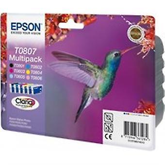 Epson C13T08074011 (T0807) Cartouche d'encre multi pack, 220 pages, 6x7,4ml, Pack qté 6