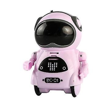 Розовый детский мини умный голос диалог танца карманный робот az10980