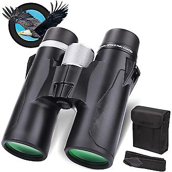 Kompaktowa lornetka dla dorosłych, profesjonalna lornetka 10x42 z pryzmatem dachowym HD - idealna do obserwacji ptaków, safari, podróże, kemping, koncert, (czarny)