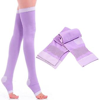 Lady Kompression Socken Fettverbrennung Bein Schlanke Krampfadern Oberschenkel Hohe Strümpfe