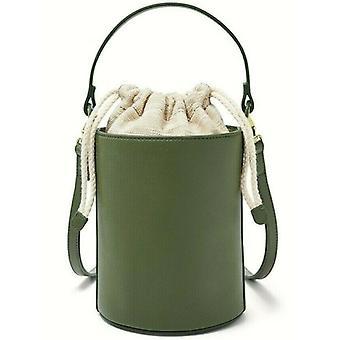 Fossil Courtney Green Bucket Bag Brass Hardware Chive SHB2640350