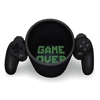 Creative Gamepad Cup Personalized Shape Coffee Milk Boy Game Over Mug(black)