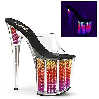 Pleaser Damen's Schuhe FLAMINGO-801SRS Clr/Neon Multi SRS