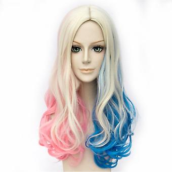 Suicide Squad Anime Perruques Harleen Quinzel Loose Hair Perruques