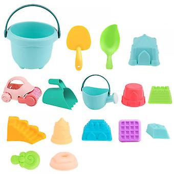 Children's Beach Toy Set And Toys In The Sand