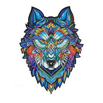 Holz Puzzle Stücke einzigartige Wolf geformt