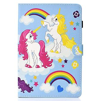 Case For Ipad 9 10.2 2021 Cover With Auto Sleep/wake Pattern Magnetic - Color Unicorn