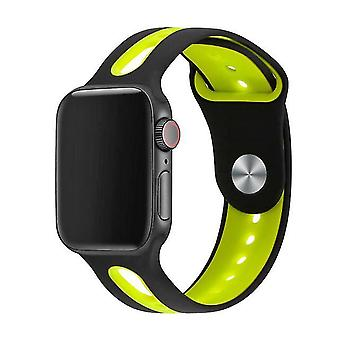 Correa de silicona reloj correa para Apple modelo 38Mm 40Mm S /M/L-Lemon