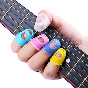 Silikon finger vakter gitarr fingertoppsskydd för ukulele gitarr