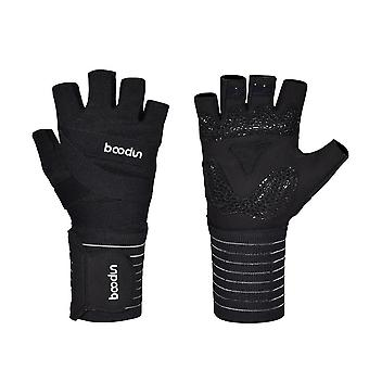 New Fitness Gloves For Gym Half Finger Lengthened Wrist Guard Yoga Bicycle Riding Gloves