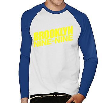 Brooklyn Ni-Ni Logo Herre Baseball Langermet T-skjorte