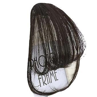 Haarverlängerungen 6-Zoll-Clip in Haar Bangs Haarteil synthetische Fake Bangs Clip im Haar