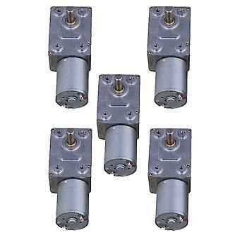 المحركات الكهربائية 5 أجهزة الكمبيوتر الشخصية 12v 2rpm دودة معدنية توربو والعتاد المحرك الزاوية اليمنى والعتاد DC المحرك