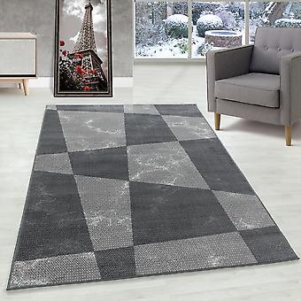Sala de estar Alfombra de pila corta Alfombra Formas modernas Patrón Flor Gris suave
