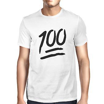 100 punkter T-shirt tillbaka till skolan Tee Mens söt Kortärmad skjorta