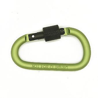 Paracord 8cm de aluminio mosquetón clip de cadena para acampar (Verde)
