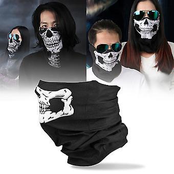 Skull Balaclava Traditional Face Protective Head Cover Mask Gator Black Nwt