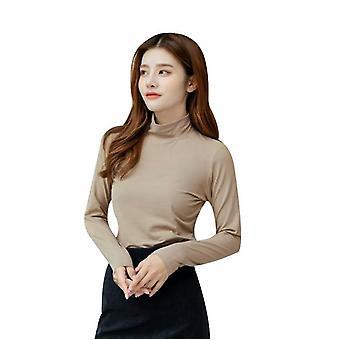 Half High Collar Bottoming Shirt für Frauen Lange Ärmel im Herbst Winter