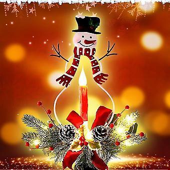 Caraele Christmas Snowman Path Lights Garden Plug In Lights Outdoor Decor