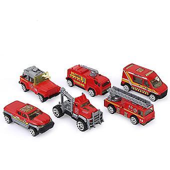 Legering Brandman, Ambulans, Brandbil, 6-delars barnleksak