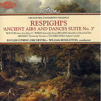 Orkestrala favoriter - Respighis gamla sänds och danser Suite nr 3 [CD] USA import
