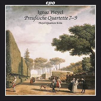 I. Pleyel - Ignaz Pleyel: Importación de Estados Unidos Preu Ische cuarteto 7-9 [CD]