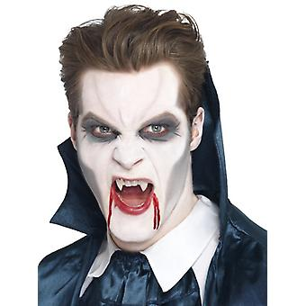 Vampir-Fangzähne Weiß mit Klebstoff