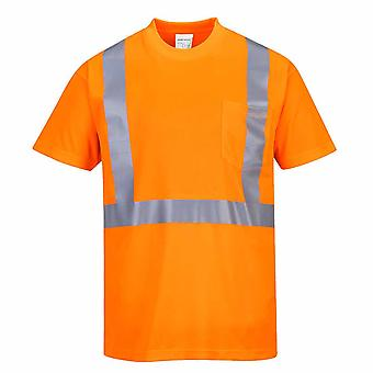 PORTWEST - Hi-Vis sicurezza t-shirt con tasca