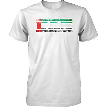 Vereinigte Arabische Emirate Grunge Land Name Flag Effect - Kinder T Shirt