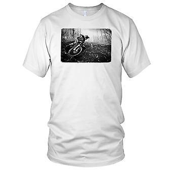 Mountain Bike Downhill B&W Mens T Shirt