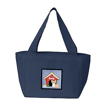 Dog House Collection Papillon Sable White Lunch Bag