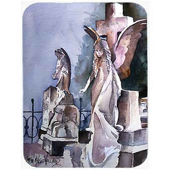 Angels in the Cemetary with Cross Glass Cutting Board Large