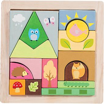Le Toy Van Woodland Puzzle Blocks