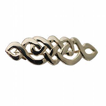 9ct Gold 12x41mm Keltische knoop ontwerp Broche