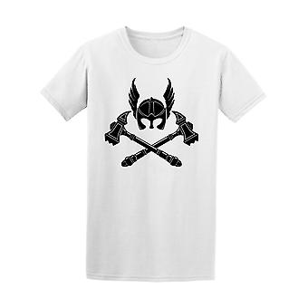 Viking Helm And War Hammer Tee Men's -Image by Shutterstock