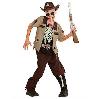 Zombie sherif kostume