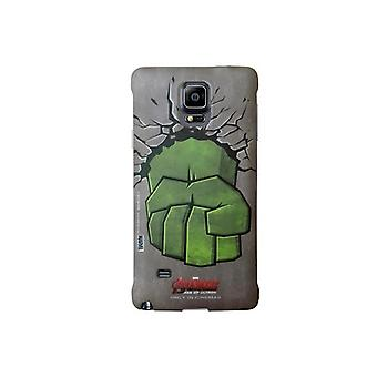 Original Samsung Marvel Avengers Hulk hard case pour Galaxy note 4