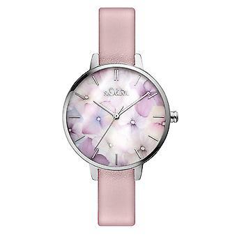 s.Oliver kvinders watch armbåndsur læder SO-3521-LQ