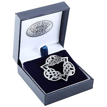 Celtic Knotwork Pewter Brooch