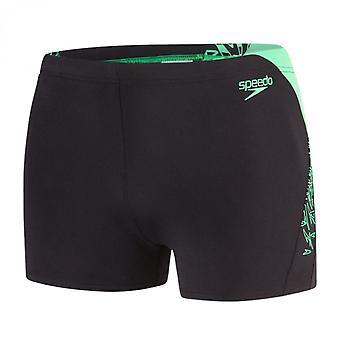 Speedo Endurance + Boom skarva Aqua kort, svart/grön