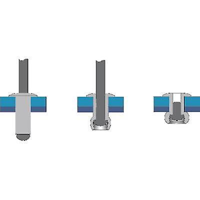 Bralo 1010005014 Blind rivet (Ø x L) 5 mm x 14 mm Steel Aluminium 250 pc(s)