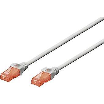 Digitus RJ45 Networks Cable Cat 6 U/UTP 5 m gris sans halogène, avec détente