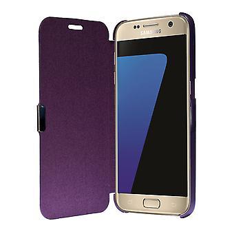 Flip kansi holkki tapauksessa puhelimen kuori Bookstyle Samsung Galaxy S7 violetti
